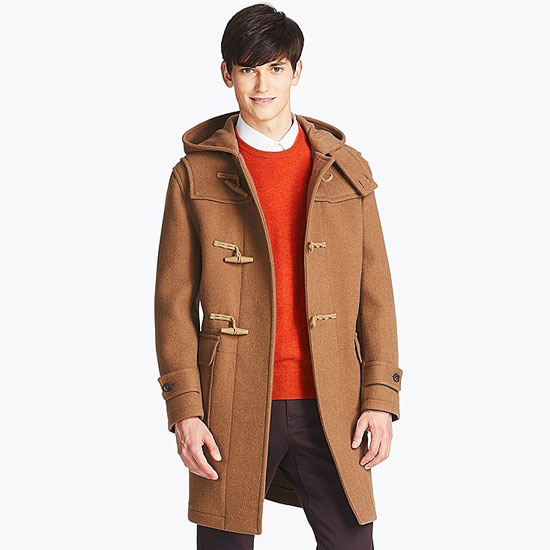 Classic on a budget: Wool blend duffle coats at Uniqlo