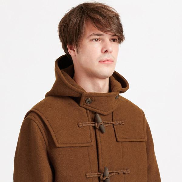 Classic on a budget: Wool blend duffle coats at Uniqlo