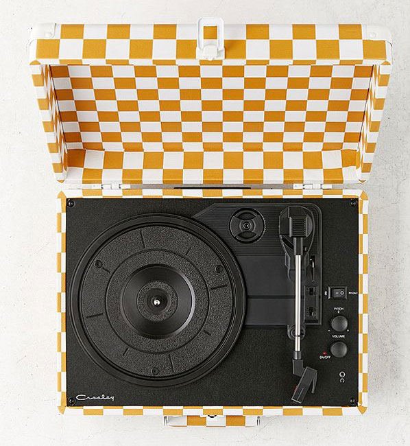 Crosley x Urban Outfitters Checkerboard Bluetooth record player
