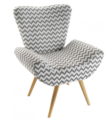 Retro-style Chevron Chair by Versa