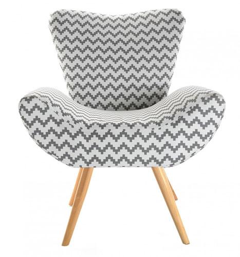 Retro-style Chevron Chair by Versa