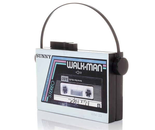 Handmade Walkman-style bags by Sarah's Bag