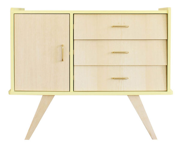 midcentury style bertille dresser by la chouette fabrique. Black Bedroom Furniture Sets. Home Design Ideas