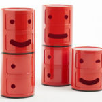 1960s space age Kartell Componibili storage units get a Smile update