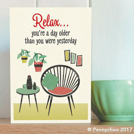 Honey, I'm Home! 1950s-style card range by Pennychoo