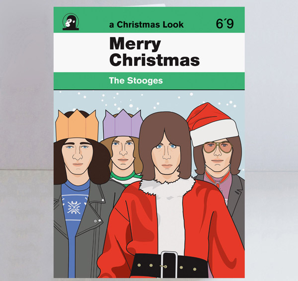 Alternative music Christmas cards by Piper Gates Design