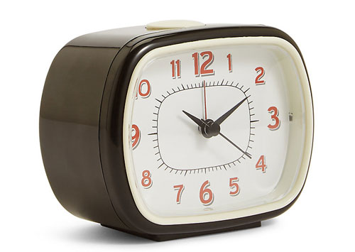 Retro bedside alarm clock at Marks and Spencer