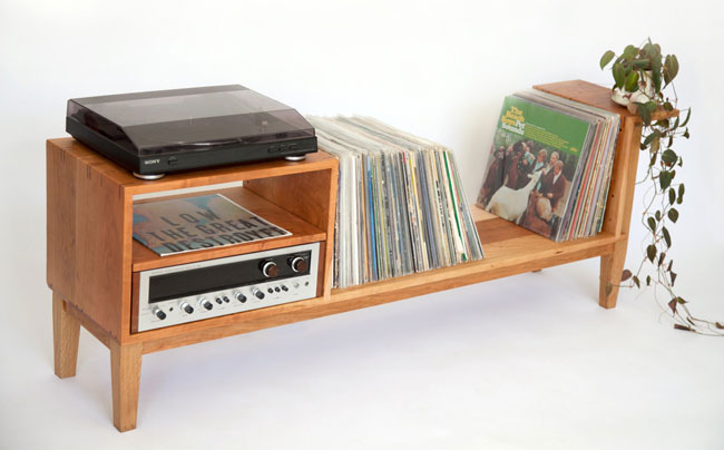 Handmade record console unit by Siosi Design and Build