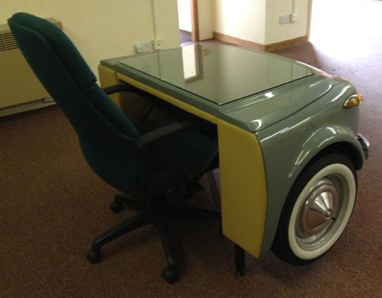Retro office: Fiat 500N desk on eBay
