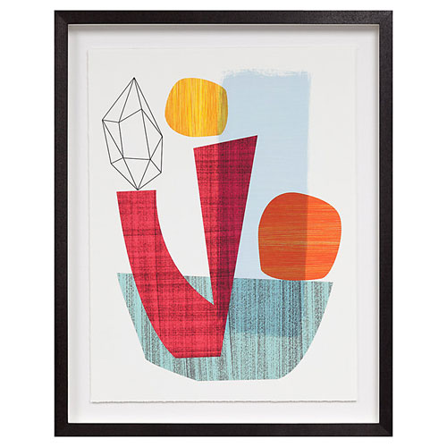 Ellen Giggenbach midcentury-inspired framed prints at John Lewis