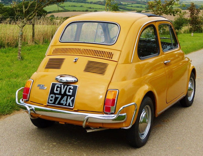 Fully restored 1972 Fiat 500 Lusso Edition on eBay