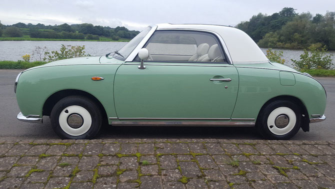 Fully restored Nissan Figaro on eBay