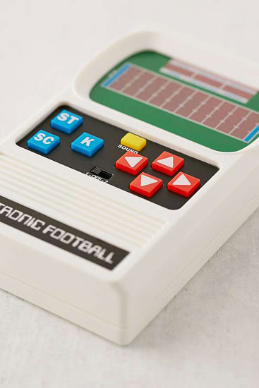 Retro handheld games at Urban Outfitters