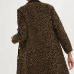 Retro-style Leopard Print Coat at Topshop
