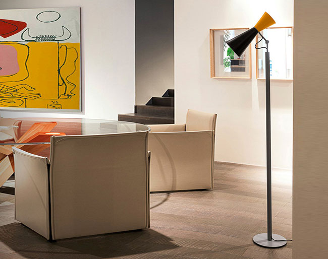 1960s Parliament floor light by Le Corbusier reissued
