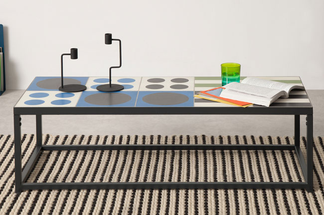 Vitti retro tiled tables at Made