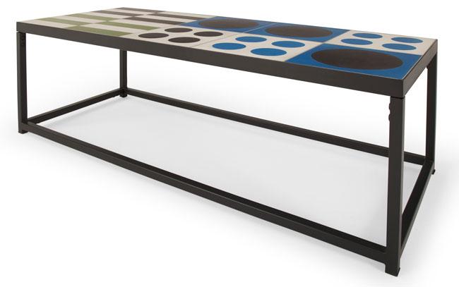 Vitti retro tiled tables at Made