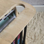 Midcentury-style magazine table by Rose & Grey