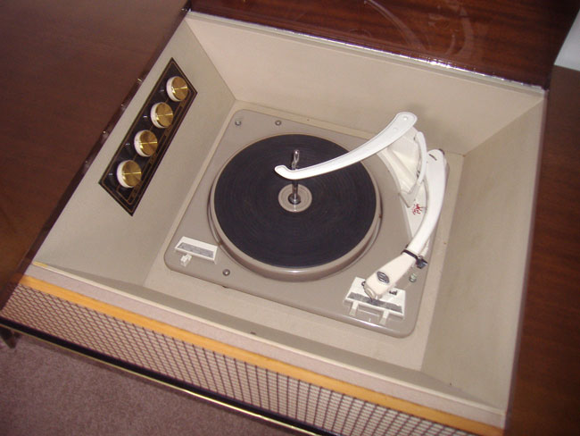 1960s Pye Stereophonic Black Box record player on eBay