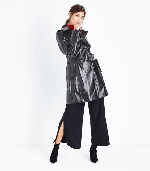 Retro patent leather-look mac at New Look