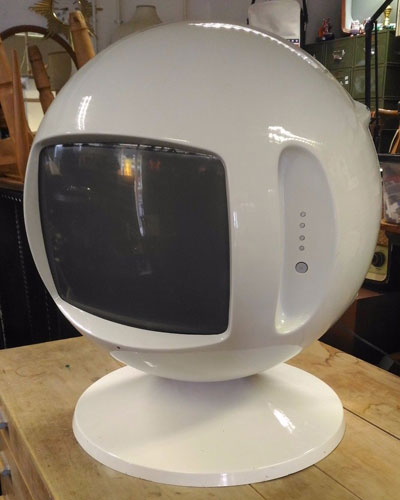 Vintage 1970s space age TV on eBay