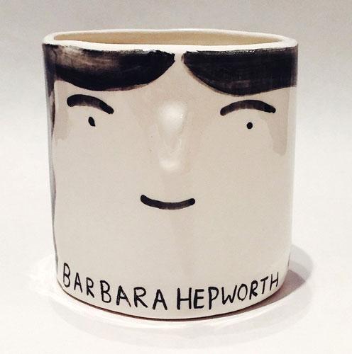 Hand painted ceramic artist pots by Alex Sickling