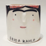 Hand painted ceramic artist pots by Alex Sickling
