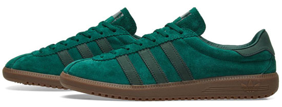 1970s Adidas Bermuda trainers return in green and grey finishes