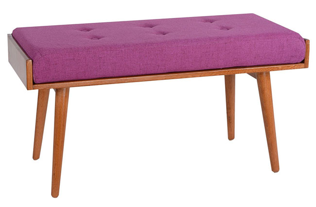 Robin midcentury-style bench by Porthos Home