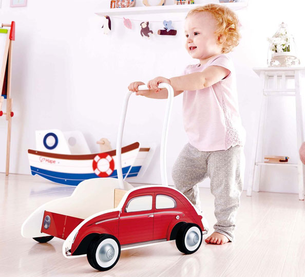 retro baby wheels volkswagen beetle baby walker  hape