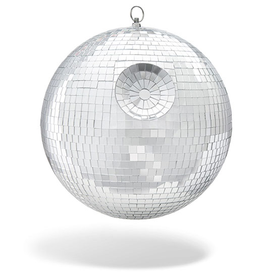 Star Wars Death Star disco ball at ThinkGeek