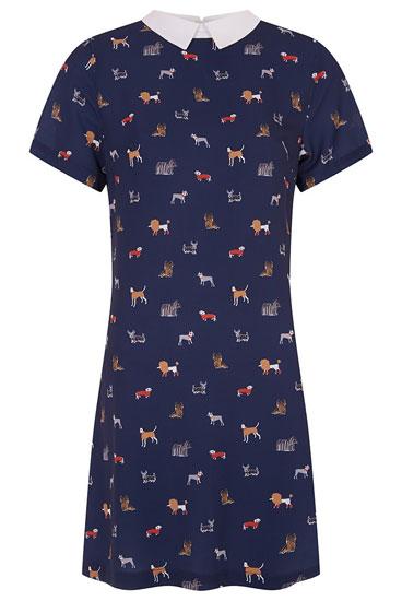 Louche Dree retro dog print shift dress