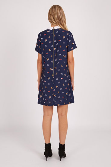 Louche Dree retro dog print shift dress