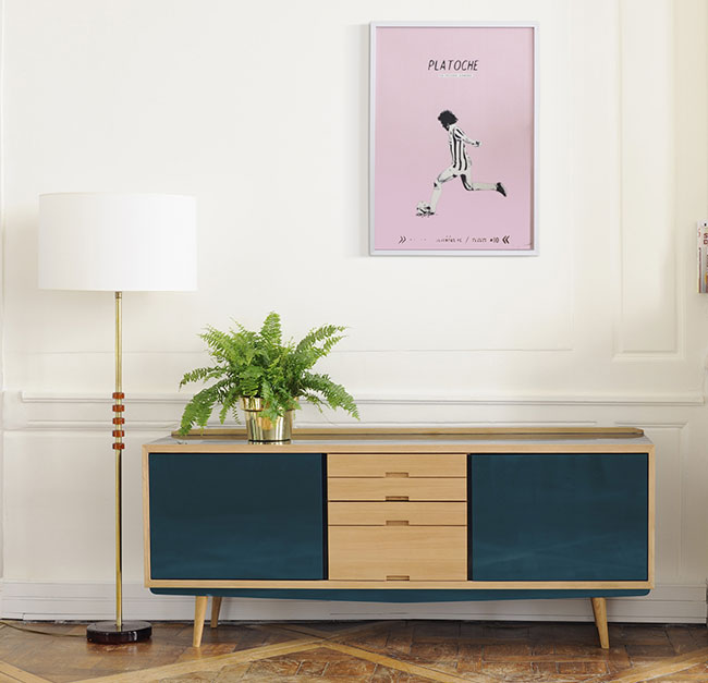 Midcentury-style solid oak sideboards by Red Edition