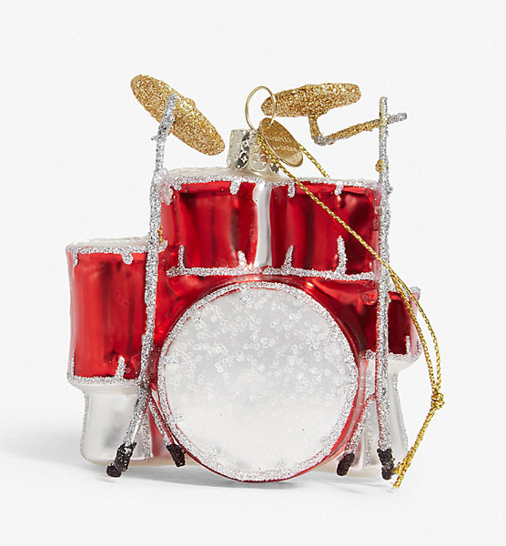 10. Classic drum kit Christmas decoration