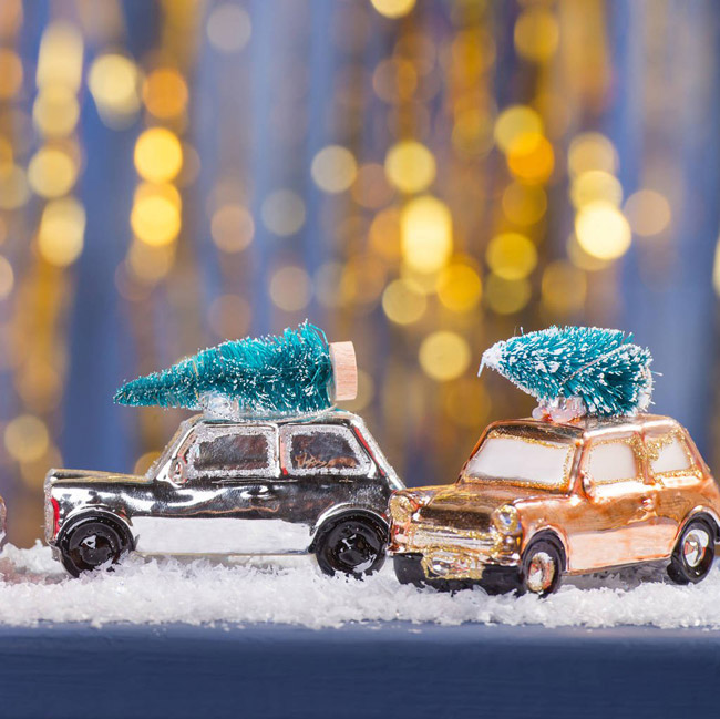 11. Festive Mini And tree Christmas ornaments