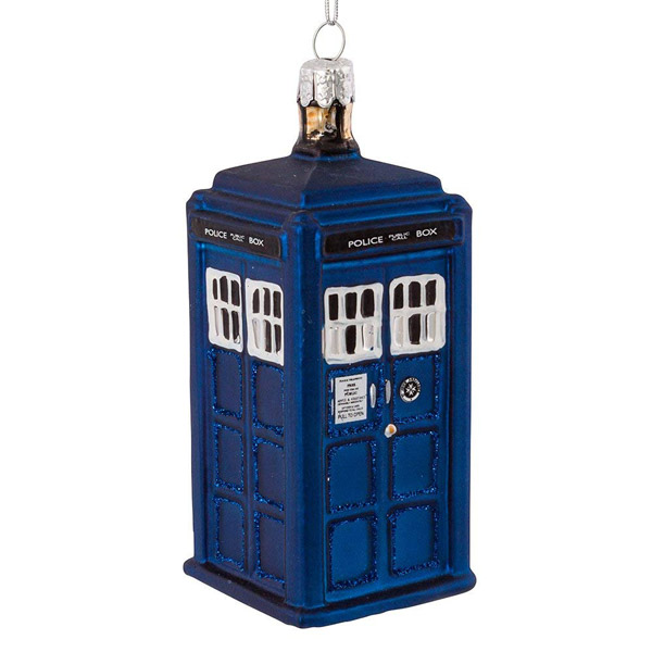 17. Kurt Adler Doctor Who Tardis glass ornament