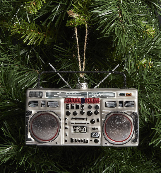 2. Classic Boombox Christmas tree decoration