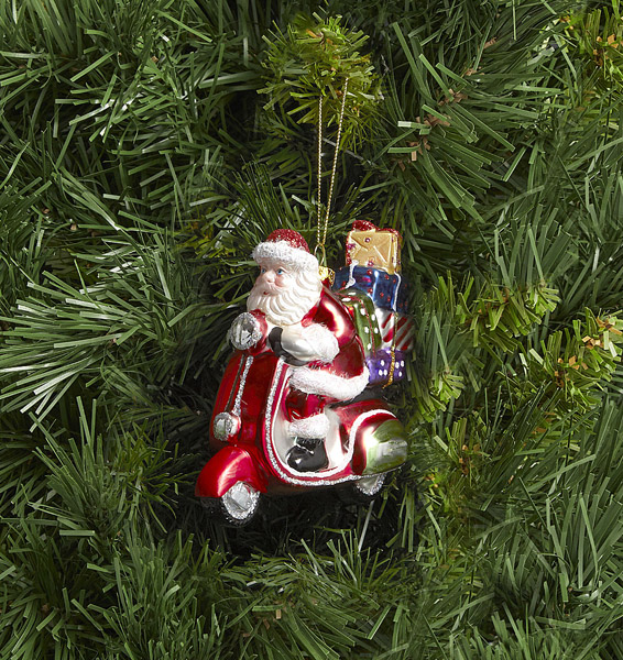 22. Santa on a Vespa tree decoration
