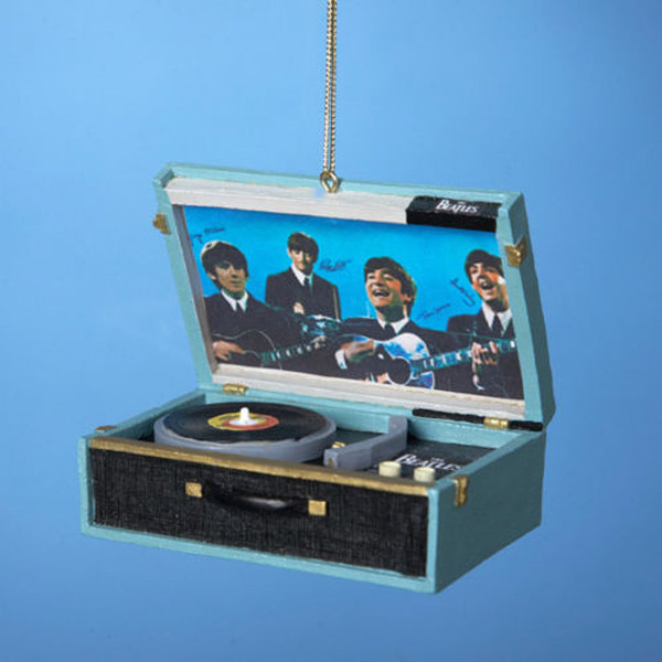 23. The Beatles replica record player Christmas ornament