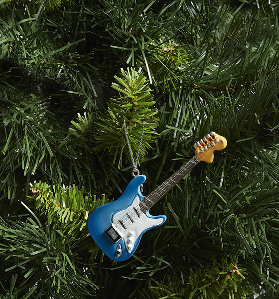 25. Fender Stratocaster guitar Christmas decoration