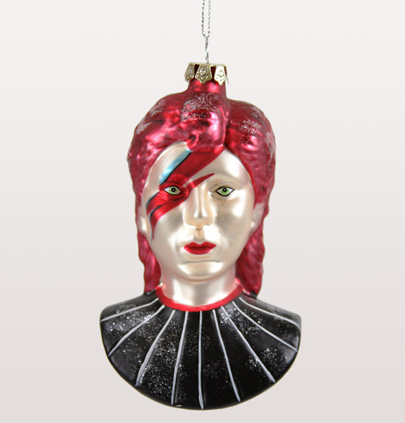 3. David Bowie Christmas tree bauble