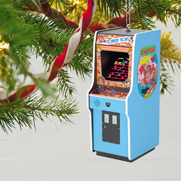4. Nintendo Donkey Kong Cabinet Christmas ornament