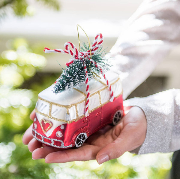5. VW Campervan with tree Christmas decoration