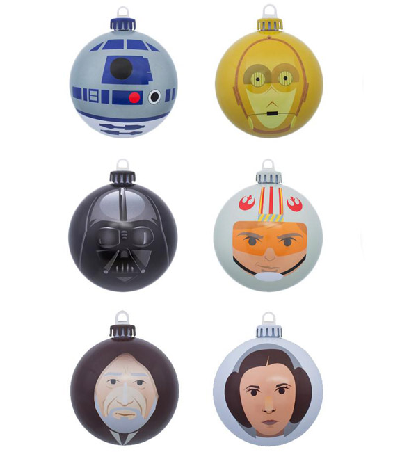 7. Set of official Star Wars Christmas tree baubles