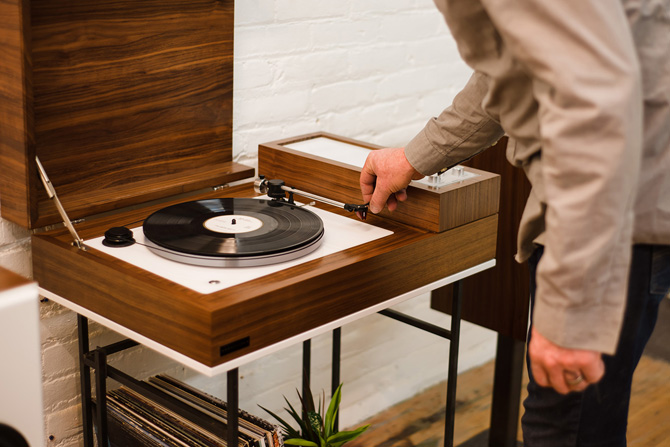 Wrensilva Loft retro-style record player and audio system