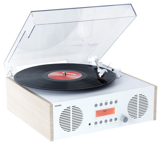 Ion Audio retro-style Music Centre with turntable