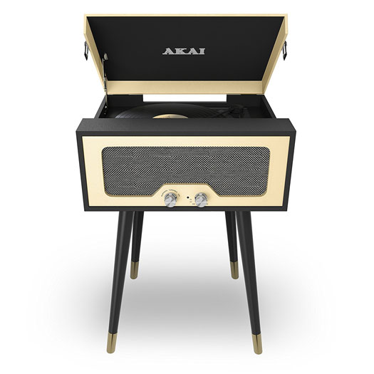 1960s-style Akai record player with Bluetooth