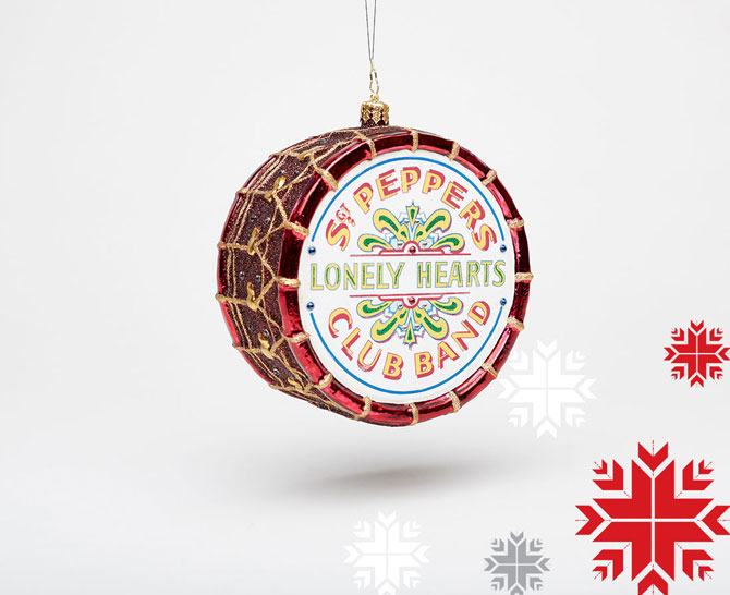 The Beatles Christmas ornaments by Christopher Radko