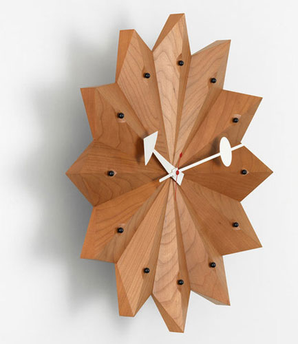 1950s George Nelson Fan wall clock reissued by Vitra
